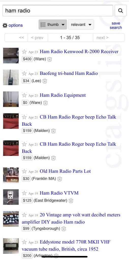 ham radio craigslist