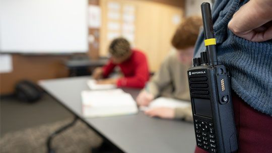 Two-way radio for emergency communication